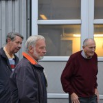v.l.n.r:  Mechaniker Horst Obermark;Mechaniker Karl Loke; Erbauer & Fahrer Heinrich Oestreich